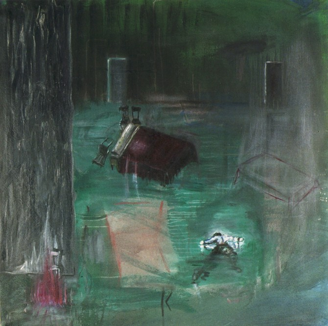 Guillermo Kuitca, Untitled, c.1986, oil on canvas, 106,5 x 109 cm.